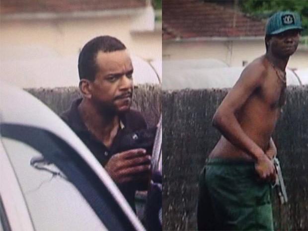 Homens assaltaram família na rodovia dos Imigrantes (Foto: Reprodução/TV Tribuna)
