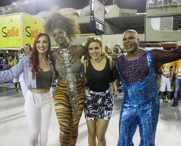 Josie Pessoa, Cris Vianna, Leandra Leal e Ailton Graça  (Foto: Daniel Pinheiro / divulgação )