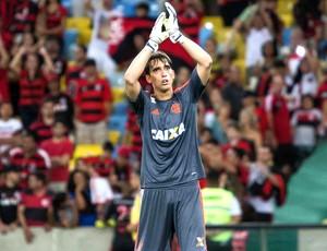 Cesar goleiro Flamengo jogo Cruzeiro