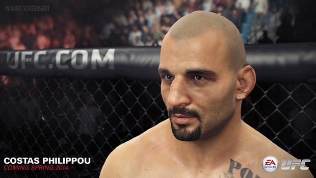 Cipriota Costas Philippou estará em novo game do UFC (Foto: Divulgação/EA Sports)