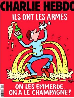Capa da próxima edição do Charlie Hebdo ironiza atentados de Paris, diz site (Foto: Reprodução/GQMagazine.fr)