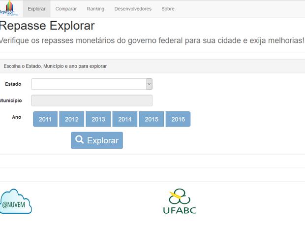 Portal permite que moradores consigam ver repasses de seus municípios (Foto: Reprodução/G1)