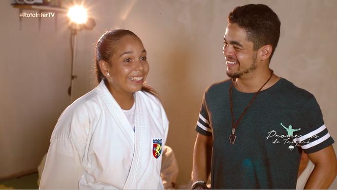 Pâmella é a promessa de Tangará no esporte (Foto: Divulgação / Inter TV)