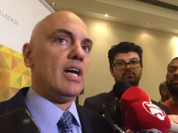 Ministro da Justiça, Alexandre de Moraes, participa de evento com advogados em São Paulo (Foto: Gabriela Gonçalves/G1)