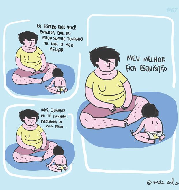 Tirinhas da mãe solo (Foto: @Mãe Solo)