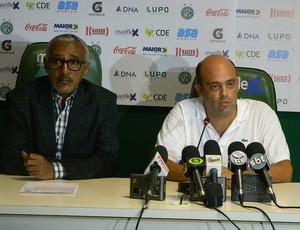 Isaías Tinoco e Álvaro Negrão, no Guarani (Foto: Guto Marchiori / Globoesporte.com)
