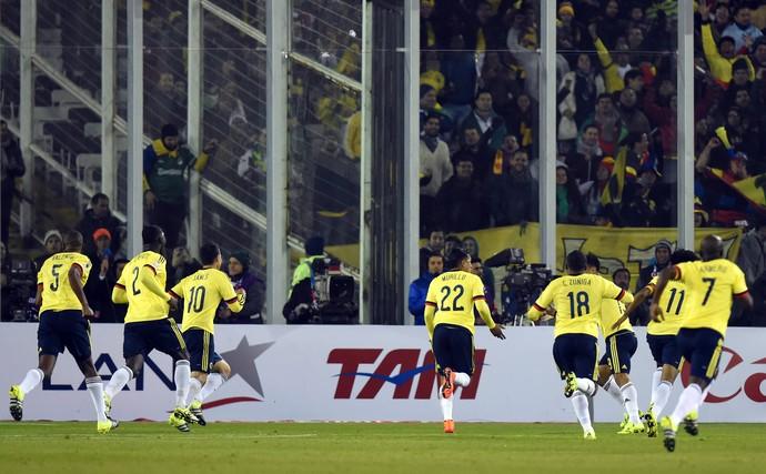 Colômbia comemoração Brasil (Foto: AFP)