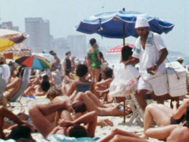 Os gatos arrasavam nos modelitos na praia! (Foto: TV Globo)