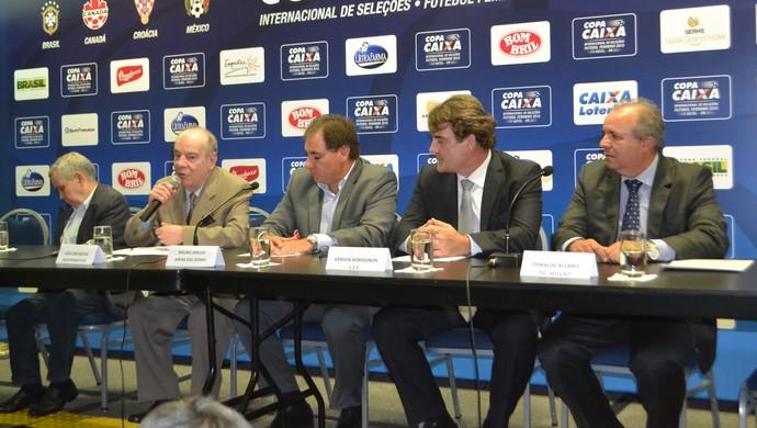 RN - lançamento Copa Internacional de Seleções, em Natal (Foto: Augusto Gomes/GloboEsporte.com)