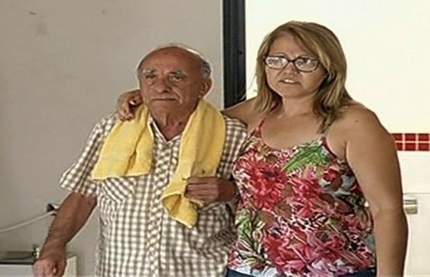 Preso advogado Moisés Jajah de 86 anos suspeito de matar 'amigo de infância', em Goiás (Foto: Reprodução/TV Anhanguera)