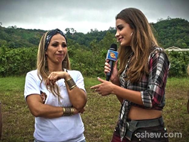 Valesca Popozuda recebe pedido inédio de fã (Foto: Caldeirão do Huck/TV Globo)