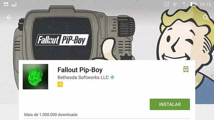 Baixe o app do Fallout 4 (Foto: Reprodução/Murilo Molina)