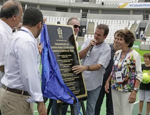 tênis evento-teste carlos arthur nuzman maria esther bueno eduardo paes (Foto: Paula Johas / Prefeitura do Rio de Janeiro)