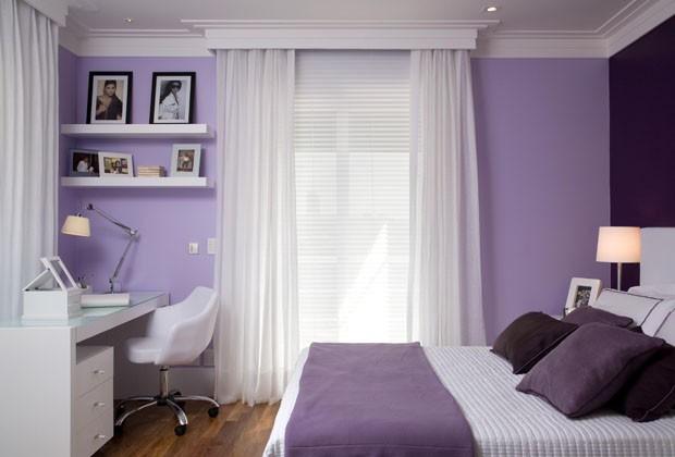 15 quartos incríveis decorados com roxo e lilás  Casa Vogue  Ambientes