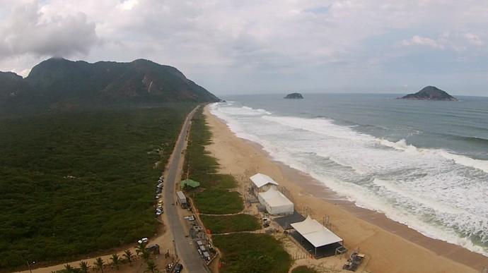 Grumari se prepara para Rio Pro, etapa do Circuito Mundial de Surfe (Foto: Felipe Siqueira)