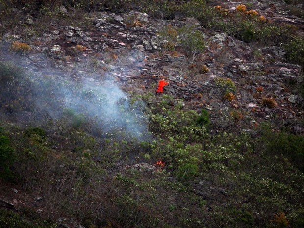 Incêndio (Foto: Elói Corrêa/Secom)