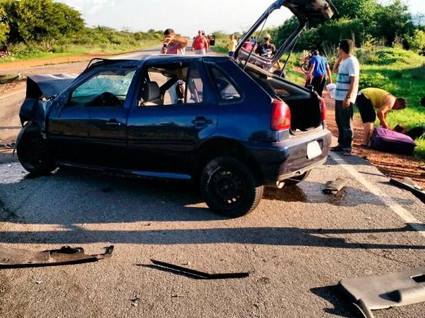 Acidente em Oliveira dos Brejinhos (Foto: Blog Braga)