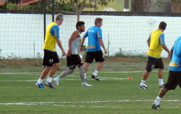 Pelada comissão técnica Botafogo (Foto: Fred Huber / Globoesporte.com)