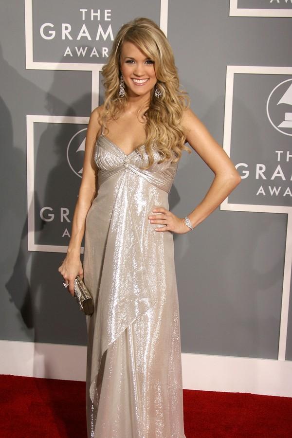 Carrie Underwood na 49ª edição do Grammy, em 2007 (Foto: Getty Images)