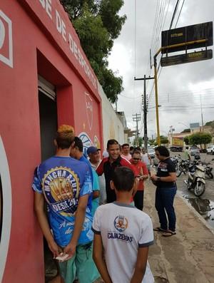 Atlético-PB, Cajazeiras, fila de ingressos (Foto: Divulgação / Ascom Atlético-PB)