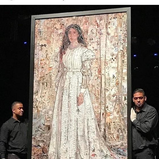 O belo quadro de Vik Muniz que foi arrematado por Ronaldo (Foto: Reprodução)