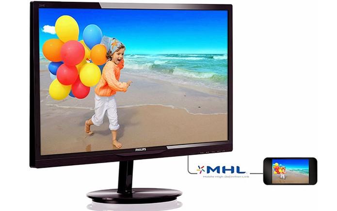 Monitor Philips tem tela ampla de 28 polegadas e conexão MHL (Foto: Divulgação/Philips)