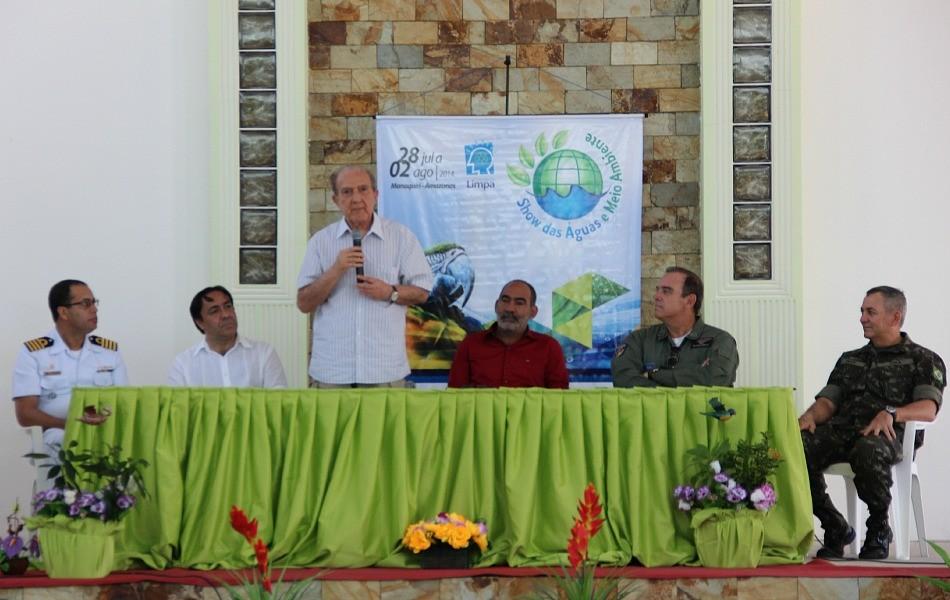 Diretor-presidente da Rede Amazônica, Dr. Phelippe Daou, participou da cerimônia de encerramento (Foto: Katiúscia Monteiro/ Rede Amazônica)