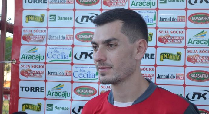 Bruno Iotti, meia do Sergipe (Foto: Felipe Martins/GloboEsporte.com)
