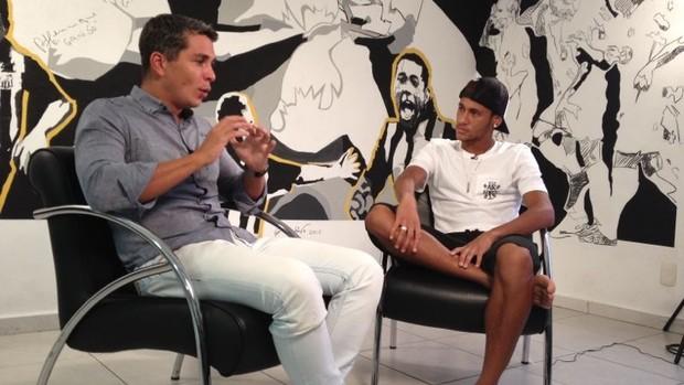 Neymar Esporte Espetacular exclusiva (Foto: Marcela Zoia / TV Globo)