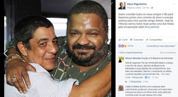 Zeca Pagodinho (Foto: Reprodução / Facebook)