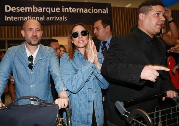 A ex-Spice Mel C chega ao Brasil (Foto: Dilson Silva/AgNews)
