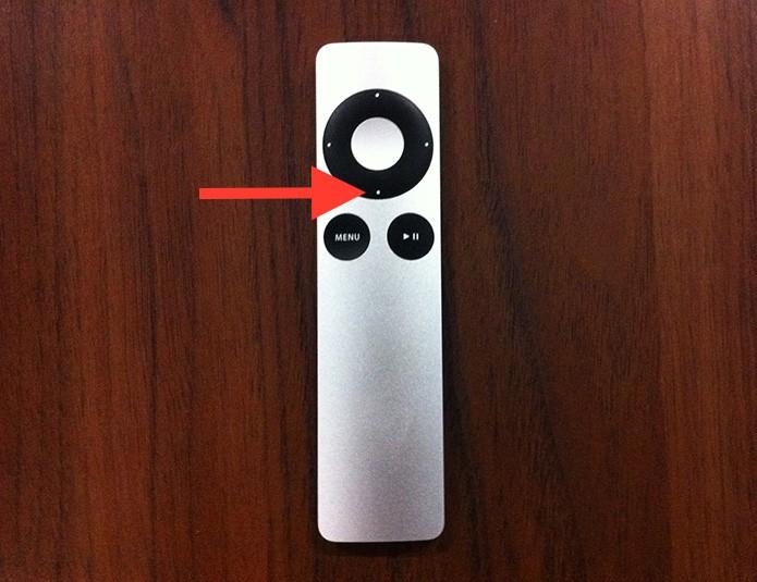Pressionando o botão down para visualizar a contagem de capítulos de um vídeo (Foto: Reprodução/Marvin Costa)