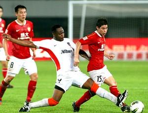 Conca na partida do Guangzhou Evergrande com a estreia de Marcelo Lippi (Foto: Divulgação)