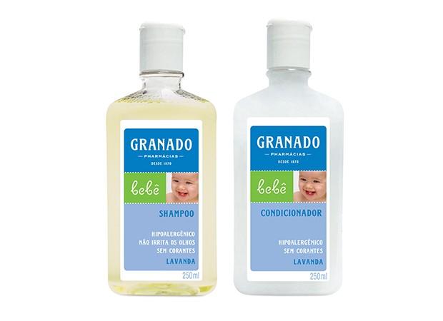 Shampoo e Condicionador Granado: dermatologicamente e oftalmologicamente testados (Foto: Divulgação)