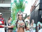 Milena Nogueira e musas da Império Serrano 'esquentam' a Sapucaí