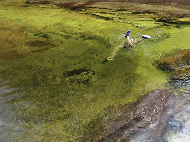 Cores vivas chamam a atenção no Caño Cristales (Foto: Jose Miguel Gomez/Reuters)