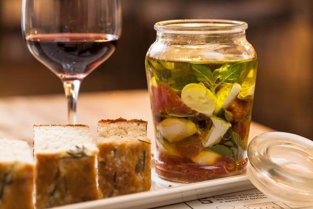 Salada Caprese em conserva do Tazza (Foto: Divulgação)