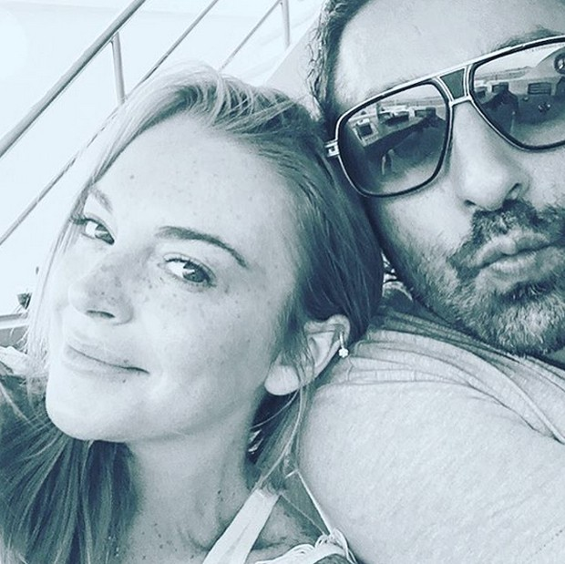 Lindsay Lohan e Dennis Papageorgiou (Foto: Reprodução)