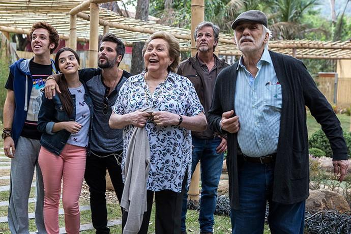 Os De Angeli chegam à casa da família Tanaka (Foto: Ellen Soares / Gshow)