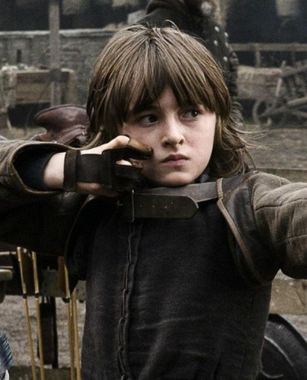 Isaac Hempstead-Wright em 2011 em Game of Thrones (Foto: Divulgação)