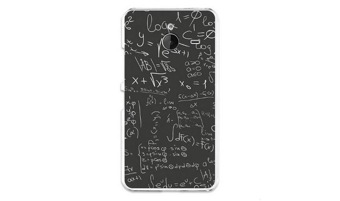 Capa gel Fórmulas Matemáticas para Lumia 640 XL (Foto: Divulgação/BeCool)