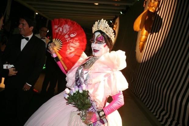 Isabelita dos Patins no baile do Copacabana Palace (Foto: André Muzell / AgNews)