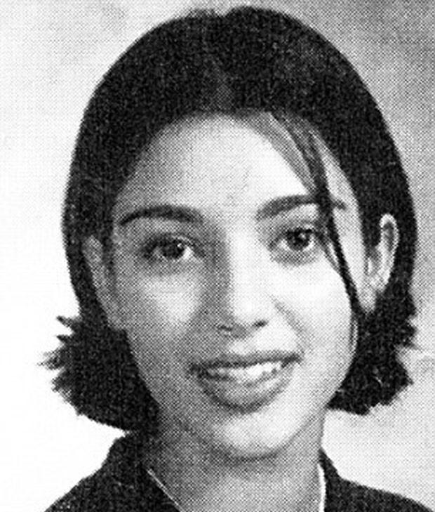 Kim Kardashian no livro de formandos do colegial (Foto: Reprodução)