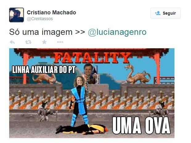 Meme - luciana e aécio (Foto: Reprodução)