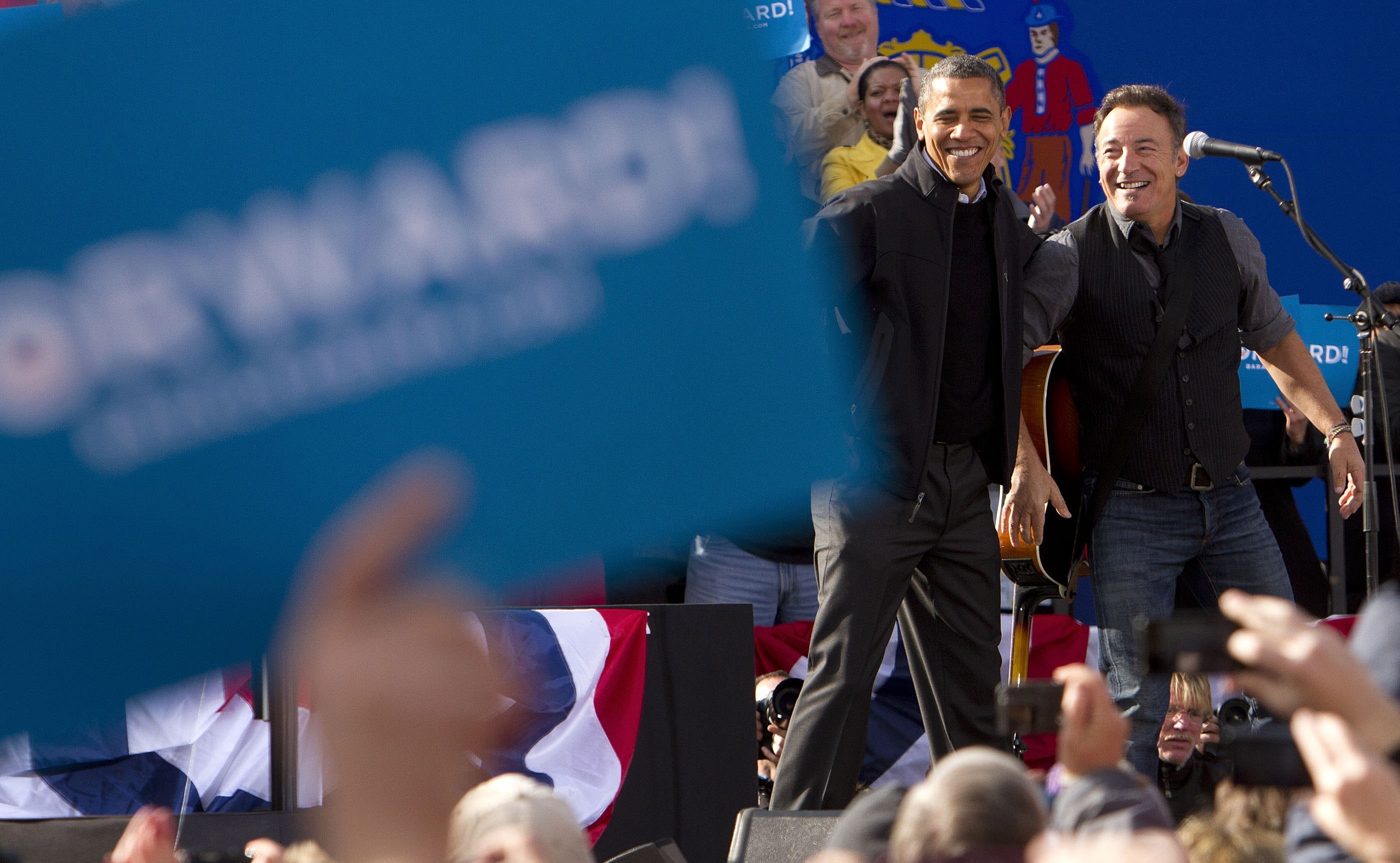 Bruce Springtsteen e Barack Obama  (Foto: Getty Images)