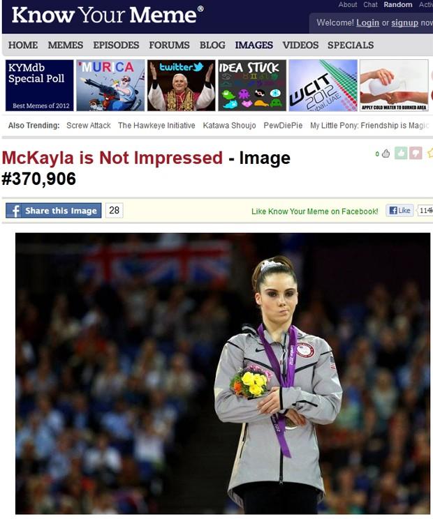 McKayla e sua cara de decepção (Foto: Reprodução)