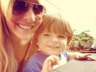 Ex-BBB Clara posta foto com o filho: 'Minha vida'
