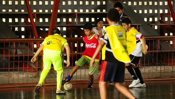 Futsal no Festival desportivo (Foto: Mauro Neto/Sejel)