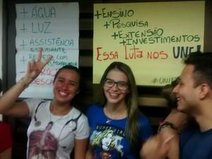Estudantes, reitoria, Unifap, Macapá, Amapá, (Foto: Elton Souza/Arquivo Pessoal)