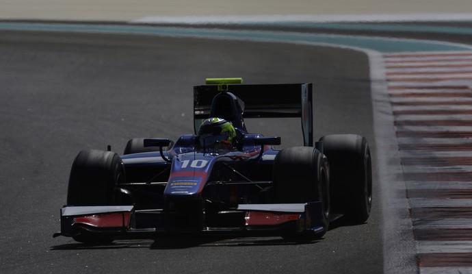 André Negrão teste GP2 Abu Dhabi equipe Carlin (Foto: Divulgação GP2)